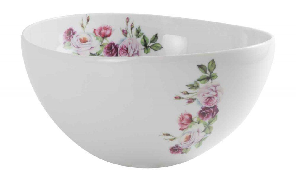 ensaladera porcelana rosa garden