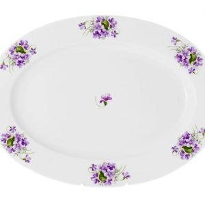 fuente 32 cm violetas