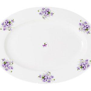 fuente 42 cm violetas