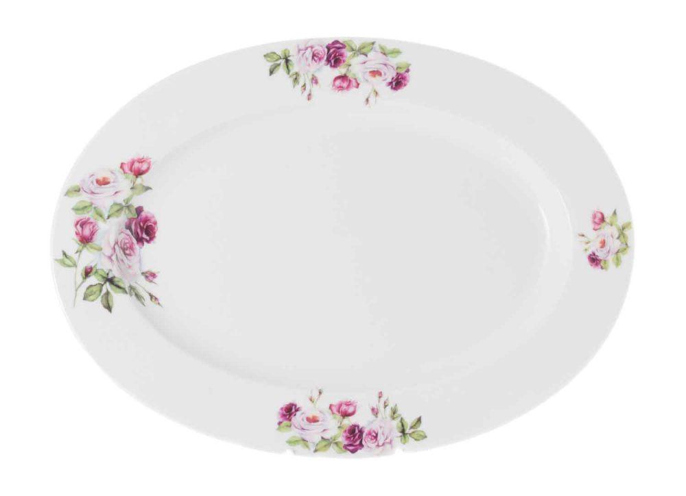 fuente porcelana 32 cm rosa garden