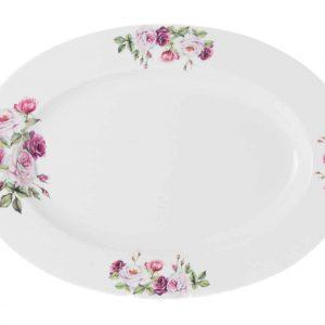 fuente porcelana 42 cm rosa garden