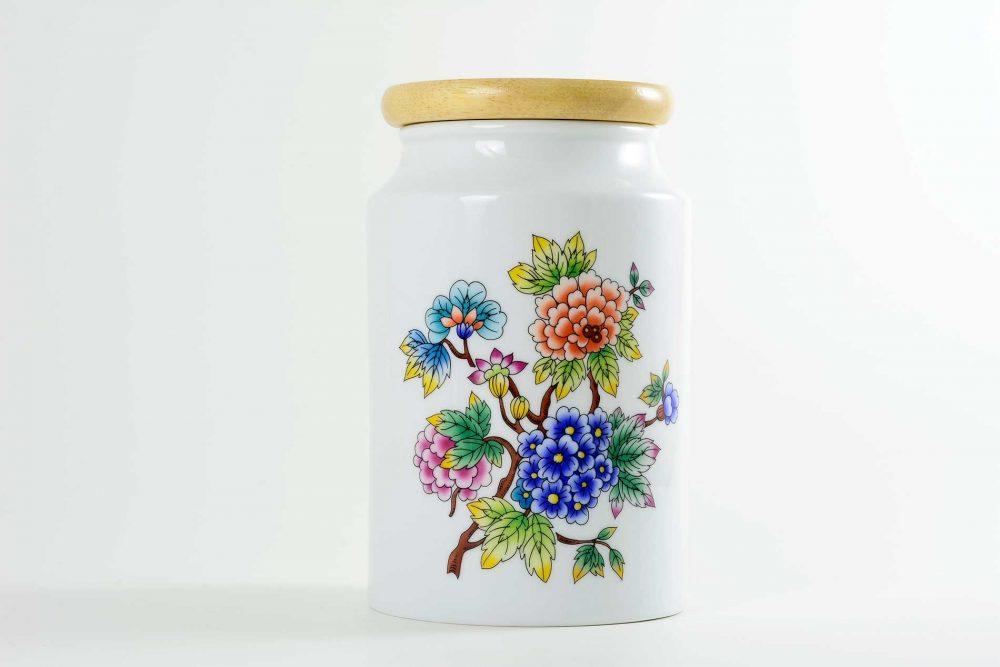 tarro porcelana cocina jardin oriental
