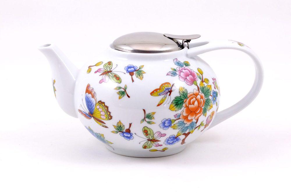tetera porcelana 1litro jardin oriental