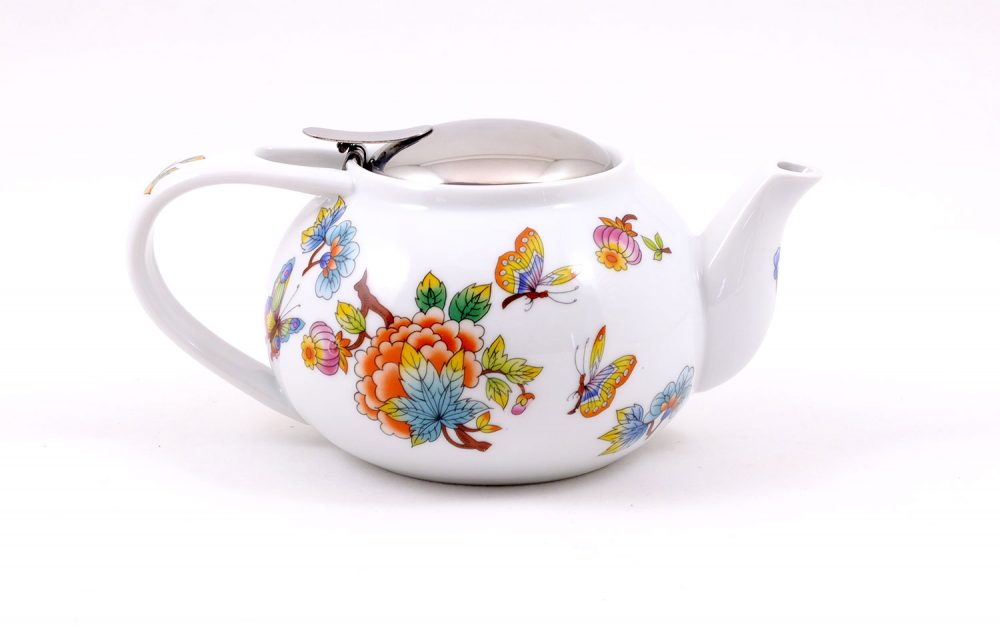 tetera porcelana 500ml jardin oriental