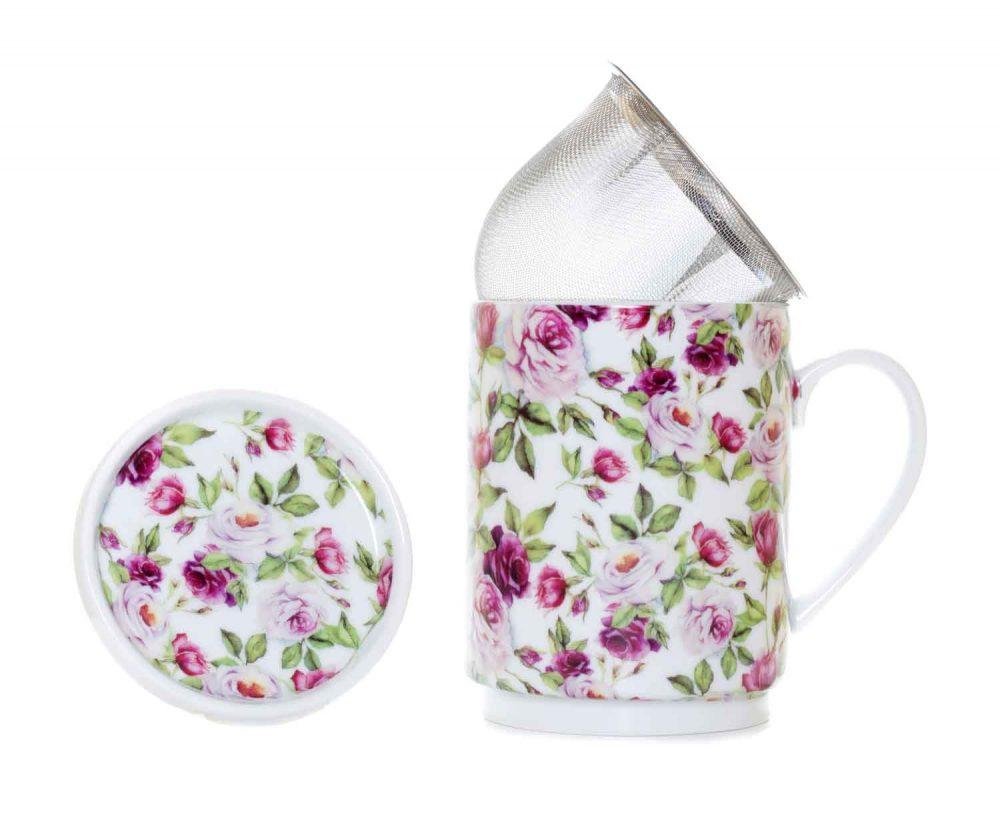 tisana porcelana rosa garden