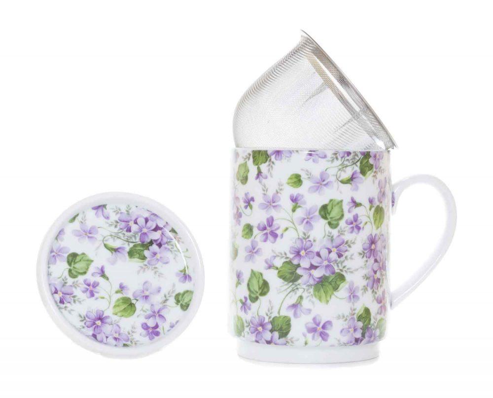 tisana porcelana violetas