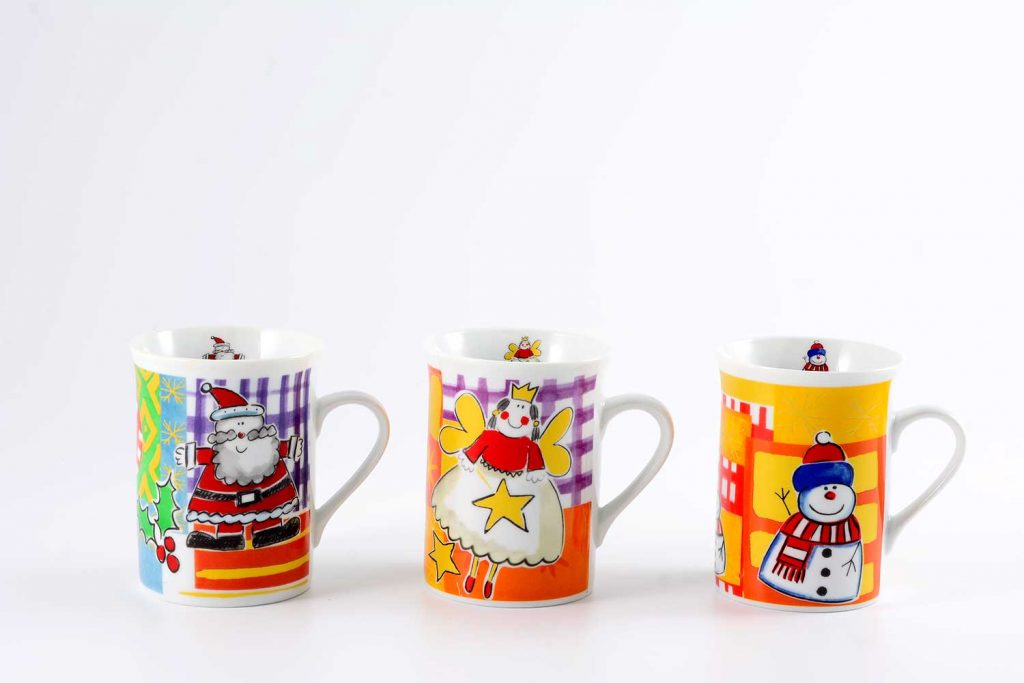 3 tazas mug navidenos