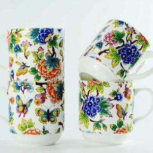 4 tazas desayuno jardin oriental