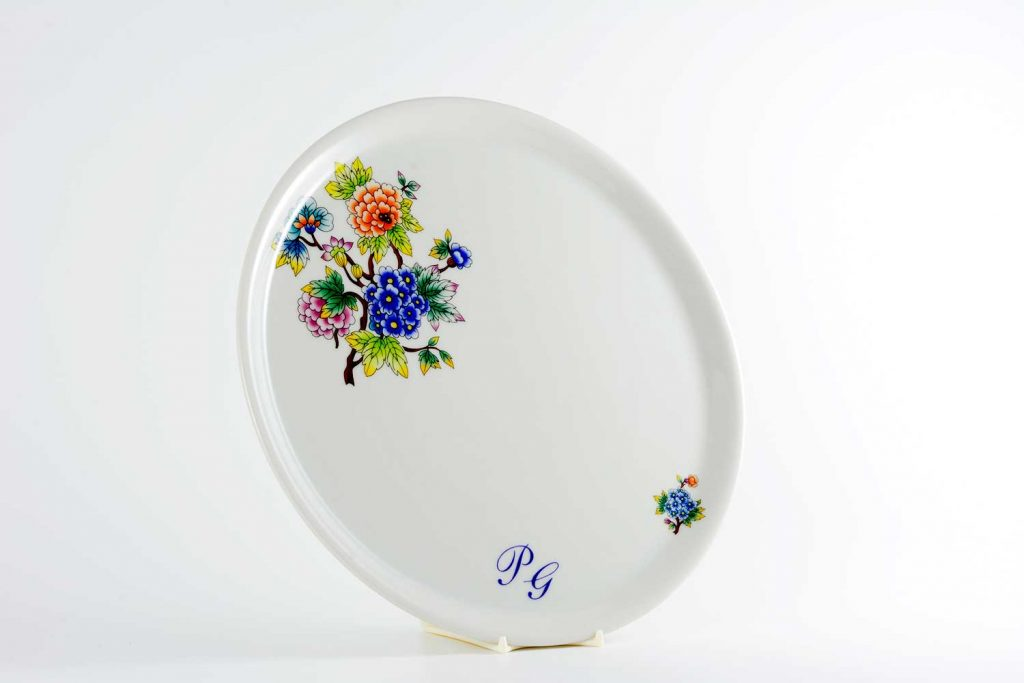 bandeja personalizada tartas jardin oriental