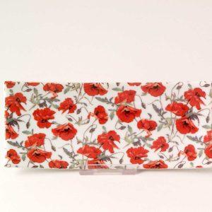 bandeja porcelana 15x6 poppies