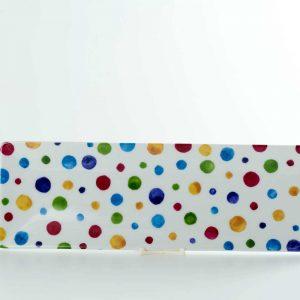 bandeja porcelana 25x8 dots