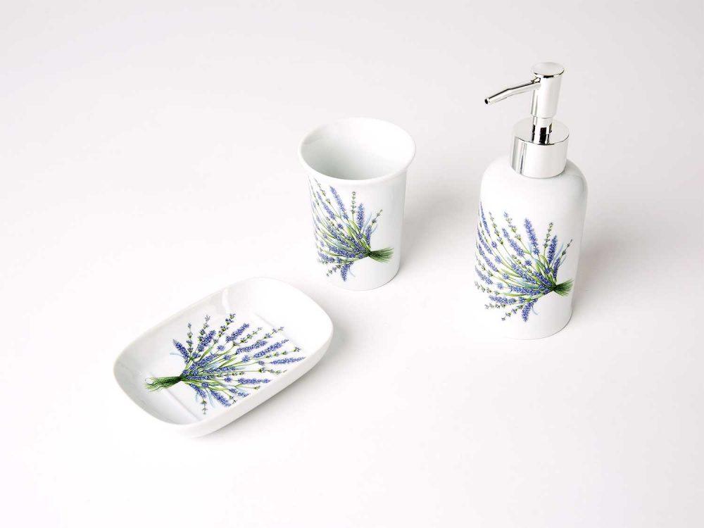 juego bano porcelana lavanda