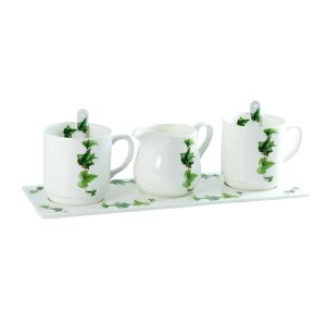 juego cafe porcelana ivy