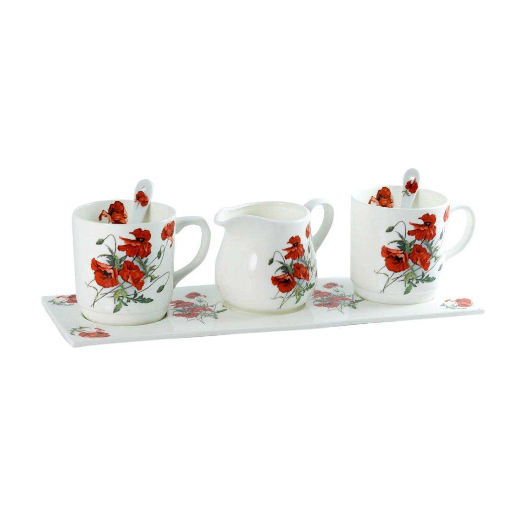 juego cafe porcelana poppies