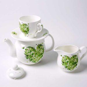 juego te individual porcelana primavera