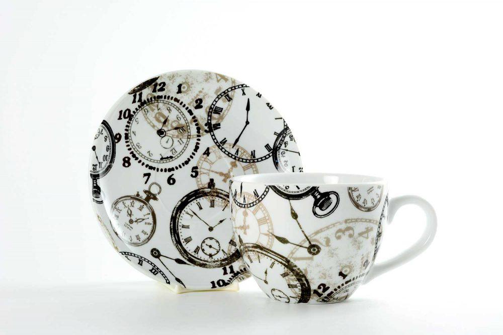 taza desayuno grande relojes