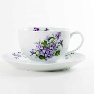 taza desayuno grande violetas
