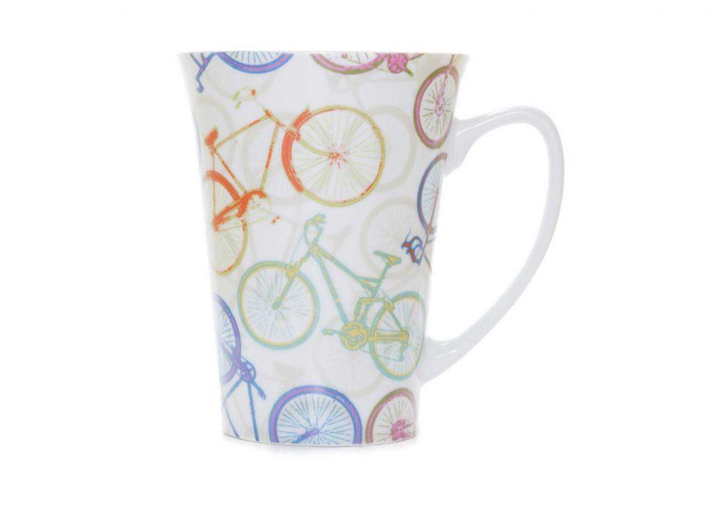 taza desayuno porcelana bicicletas