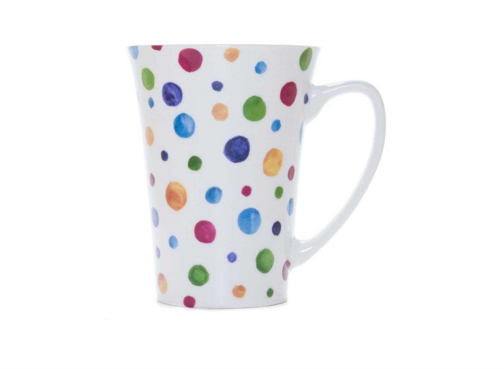 taza desayuno porcelana dots