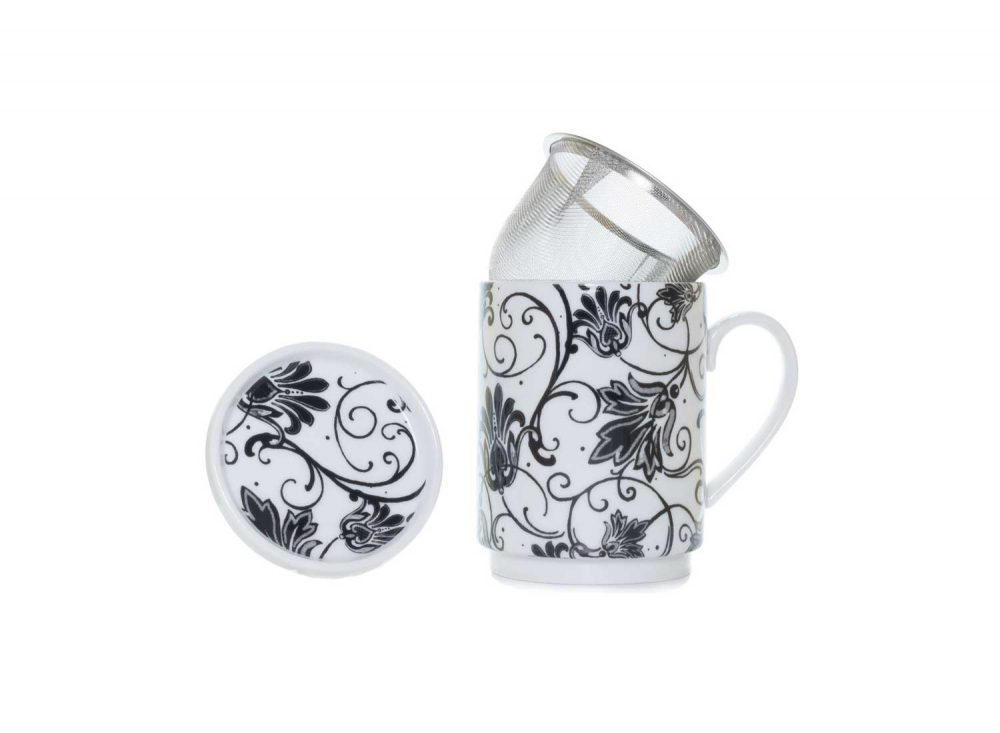 taza te porcelana paris negro