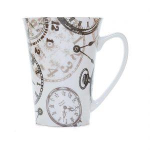 tazas desayuno porcelana relojes