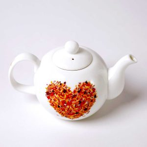 tetera porcelana 1l corazones otoño