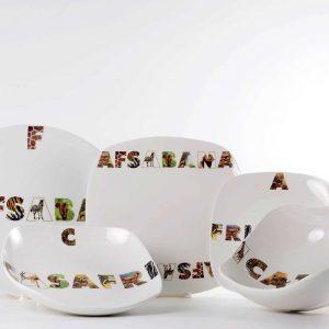 vajilla 20 piezas completa porcelana africa