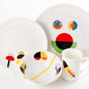 vajilla infantil porcelana texturas