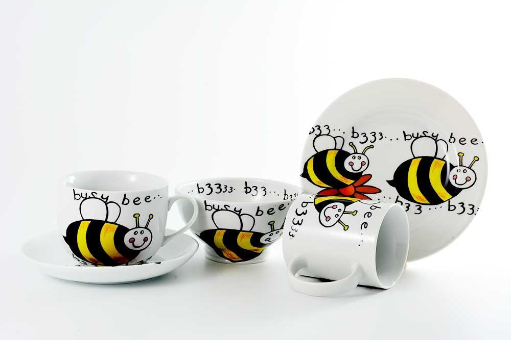 vajilla infatil abeja divertida