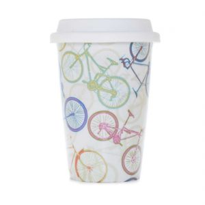 vaso americano porcelana bicicletas