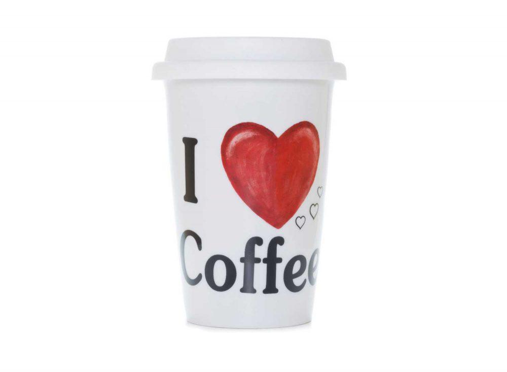 vaso americano porcelana love coffee