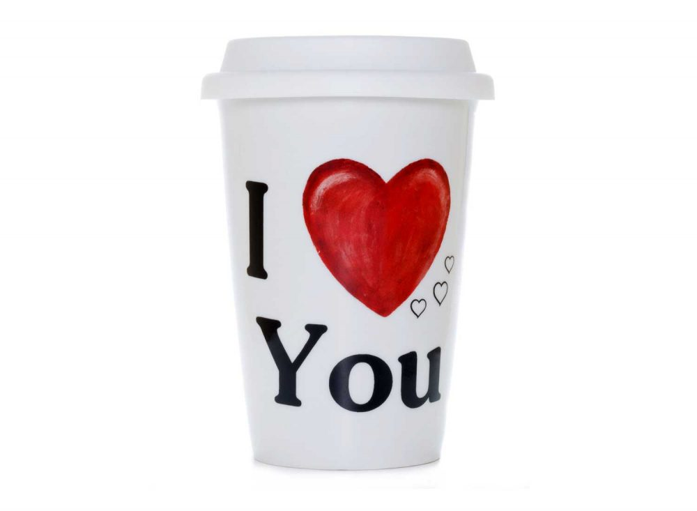 vaso americano porcelana love you