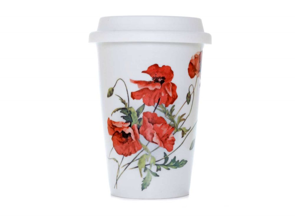 vaso americano porcelana poppies