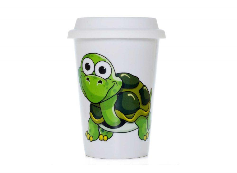 vaso americano porcelana tortuga