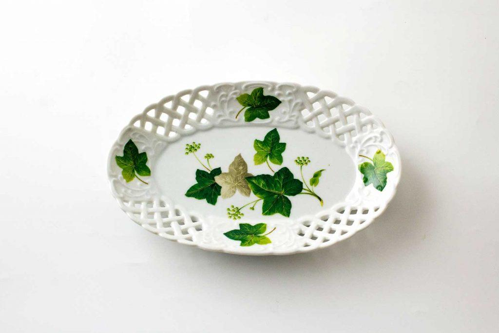 bandeja oval porcelana ivy
