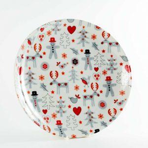 bandeja redonda porcelana reno tiza