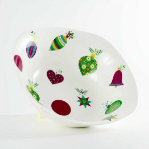 ensaladera porcelana bolas navidad