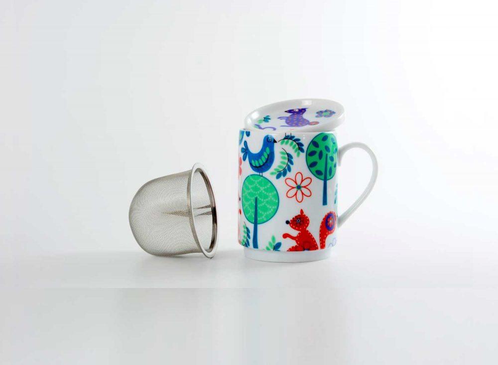 taza te porcelana bosque alegre