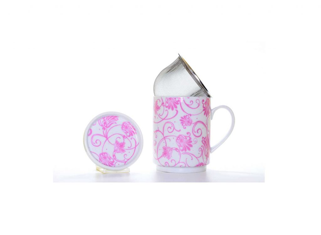 taza te porcelana paris rosa