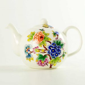 tetera porcelana jardin oriental