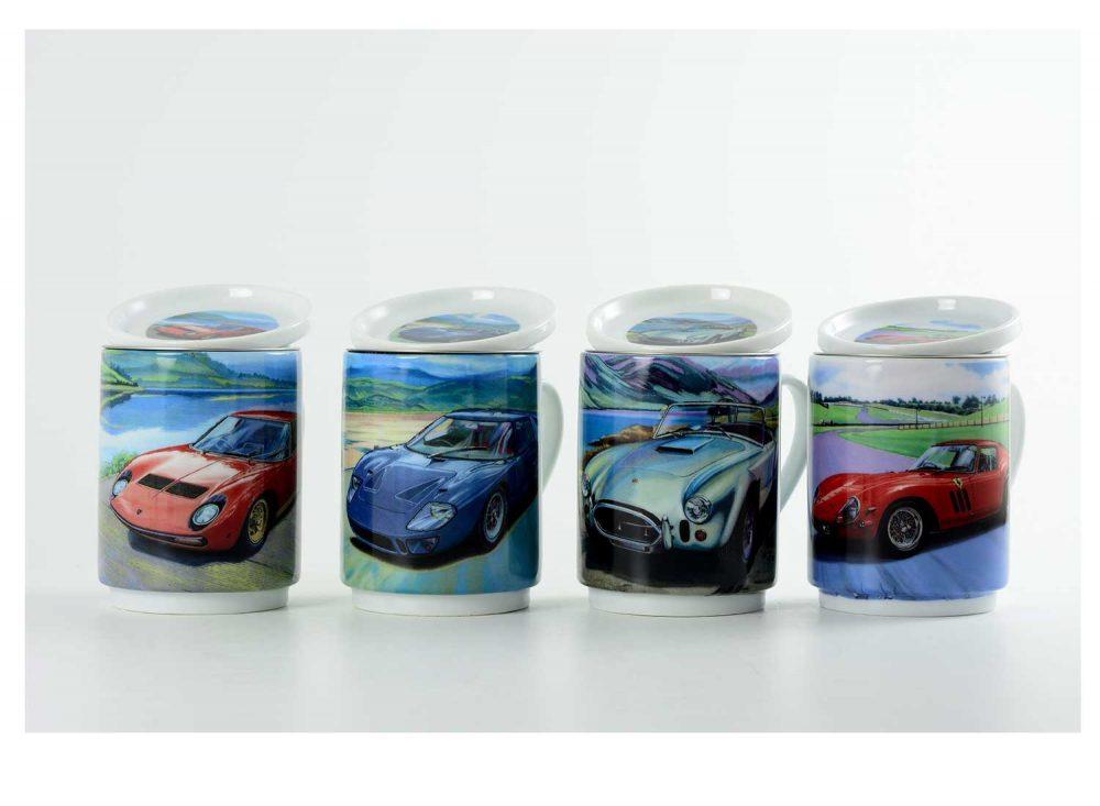 taza te porcelana coches modernos