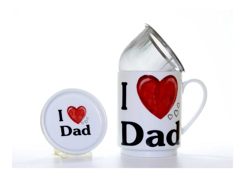 taza te porcelana love dad