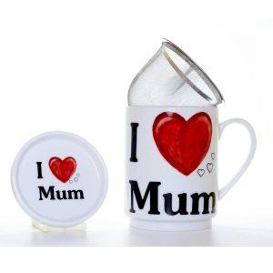 taza te porcelana love mum