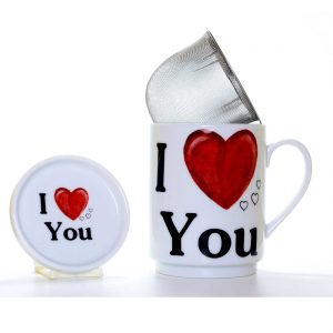 taza te porcelana love you