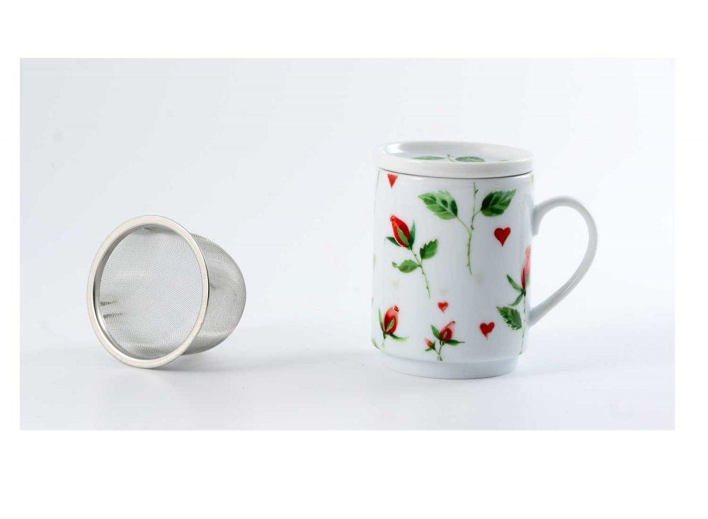 taza te porcelana romeo