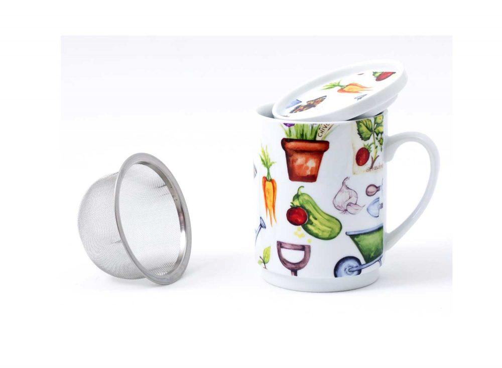 taza te porcelana utensilios jardin