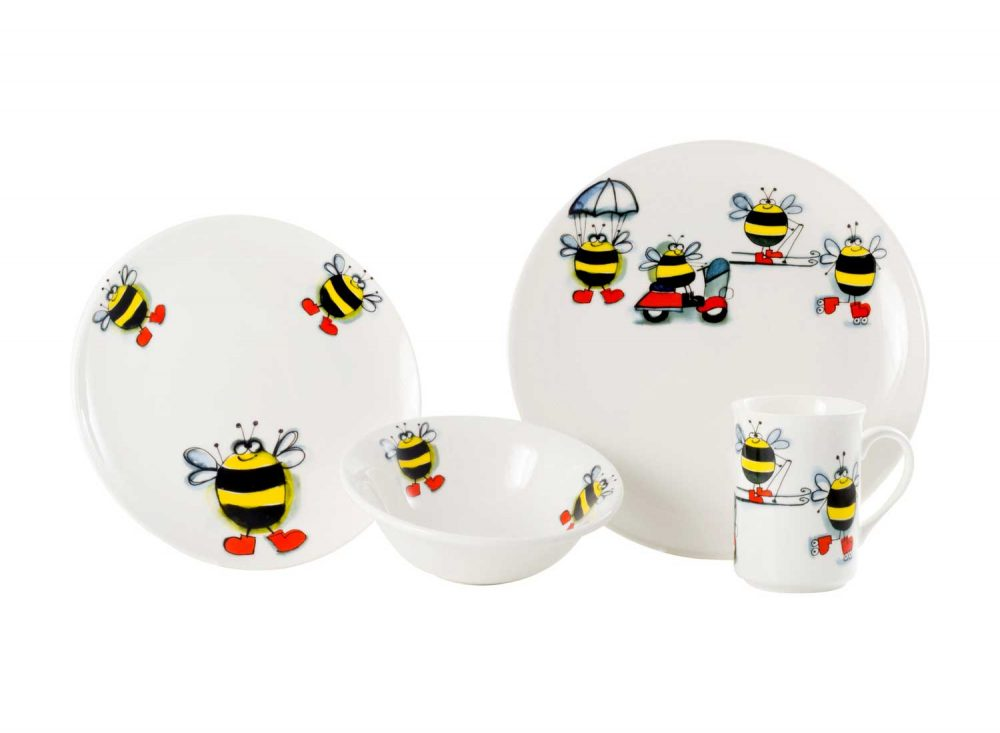 vajilla-infantil-navia-abejas-aventureras